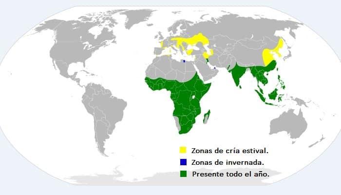 Distribución de la Garza Imperial (Ardea purpurea)
