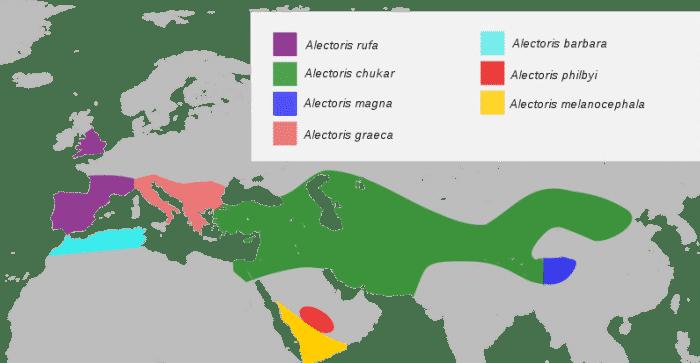 Distribución de la Perdiz Roja